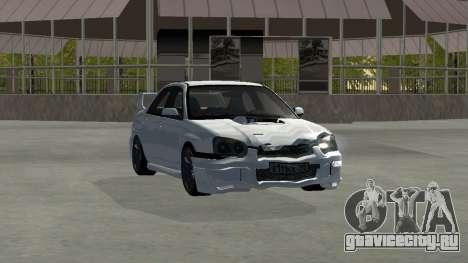 Subaru Impreza WRX STi Remastered для GTA San Andreas вид изнутри
