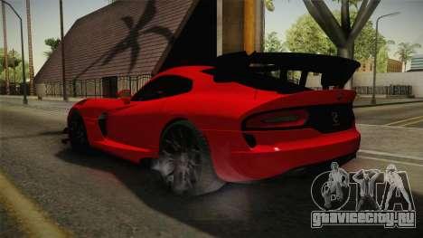 Dodge Viper ACR для GTA San Andreas вид сзади слева