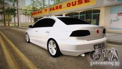 Volkswagen Passat 2011 Beta для GTA San Andreas вид слева