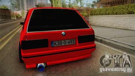 BMW 3 Series E30 Touring 3.8 BiTurbo для GTA San Andreas вид сзади