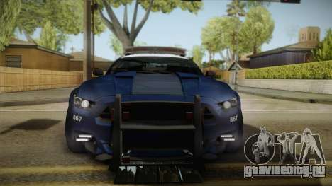 Ford Mustang GT 2015 Barricade Transformers 5 для GTA San Andreas вид сзади