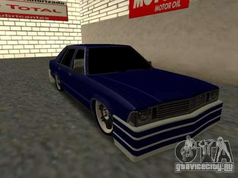 Chevrolet Malibu 1980 V3 Super Tuning Blue для GTA San Andreas вид слева