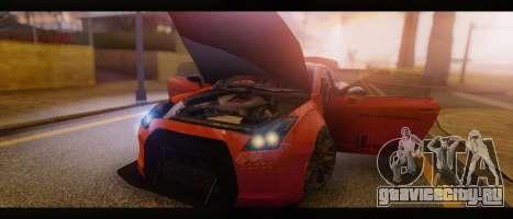 2015 Nissan GT-R R35 Liberty для GTA San Andreas вид справа