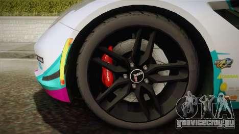 Chevrolet Corvette Z51 C7 2014 GOODSMILE Racing для GTA San Andreas вид сзади слева