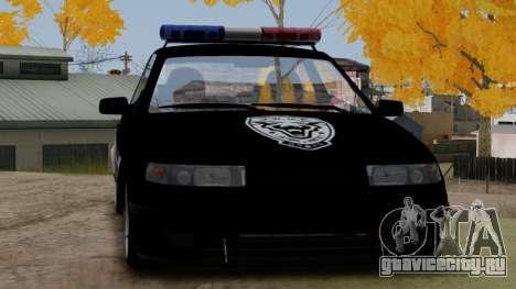 ВАЗ 2112 POLICE для GTA San Andreas вид сзади слева
