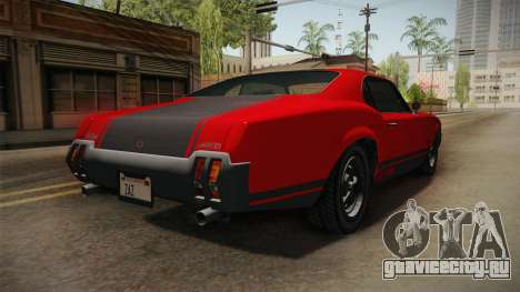 GTA 5 Declasse Sabre GT SA Style для GTA San Andreas вид слева