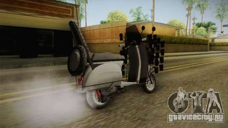 GTA 5 Pegassi Faggio Extreme Tuning v2 для GTA San Andreas вид слева