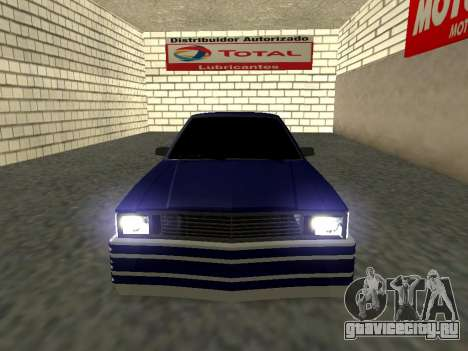 Chevrolet Malibu 1980 V3 Super Tuning Blue для GTA San Andreas вид сзади