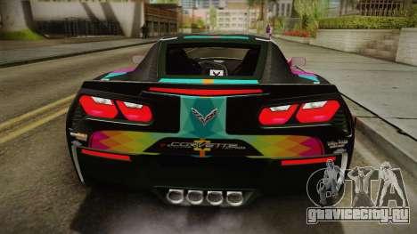 Chevrolet Corvette Z51 C7 2014 GOODSMILE Racing для GTA San Andreas вид сзади