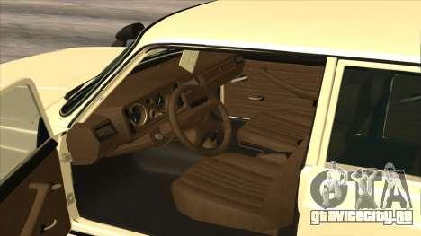 Lada 2105 для GTA San Andreas вид изнутри