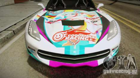 Chevrolet Corvette Z51 C7 2014 GOODSMILE Racing для GTA San Andreas вид справа