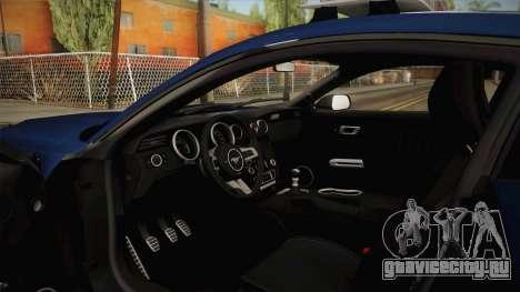 Ford Mustang GT 2015 Barricade Transformers 5 для GTA San Andreas вид сбоку