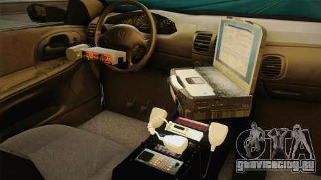 Dodge Intrepid 2001 El Quebrados Police для GTA San Andreas вид изнутри