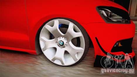 Volkswagen Polo Maskot для GTA San Andreas вид сзади