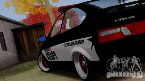 ВАЗ 2112 POLICE для GTA San Andreas вид слева