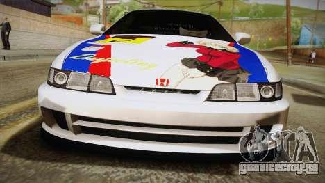 Honda Integra Tipe R Girl und Panzer Itasha для GTA San Andreas вид справа