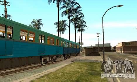 ST_M Метровагон типа Еж для GTA San Andreas вид снизу