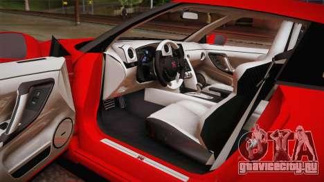 Nissan GT-R SR PRO для GTA San Andreas вид изнутри