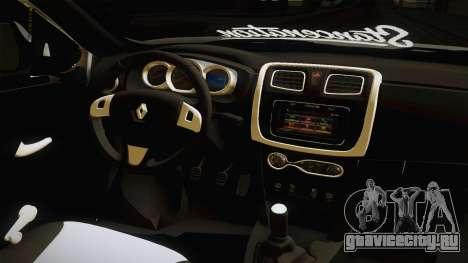 Renault Symbol для GTA San Andreas вид изнутри