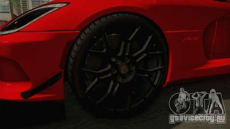 Dodge Viper ACR для GTA San Andreas вид сзади