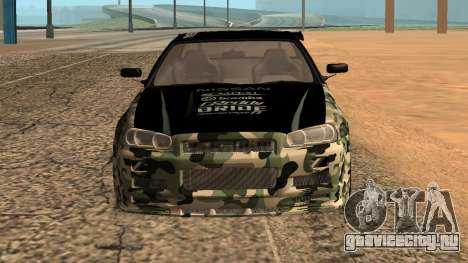 Nissan GTR R34 GTR CLAN для GTA San Andreas для GTA San Andreas вид сзади