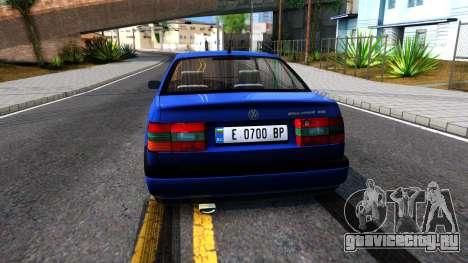 Volkswagen Passat B4 Gl 1999 для GTA San Andreas вид сзади слева