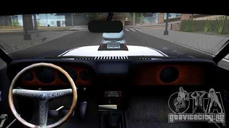 Ford Mustang Boss 557 для GTA San Andreas вид изнутри