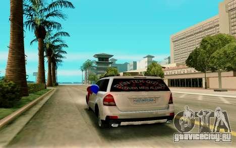 Mercedes-Benz GL для GTA San Andreas вид сзади слева