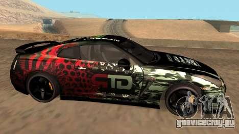 Nissan GTR R35 GTR CLAN для GTA San Andreas вид слева