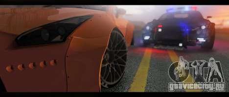 2015 Nissan GT-R R35 Liberty для GTA San Andreas вид сзади слева