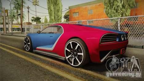 GTA 5 Truffade Nero для GTA San Andreas вид слева