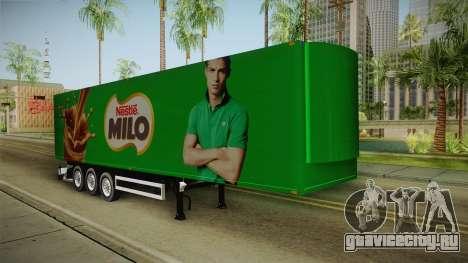 Nestle Milo Trailer для GTA San Andreas вид справа