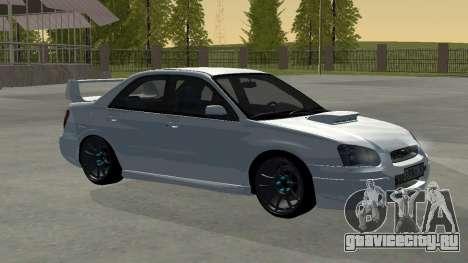 Subaru Impreza WRX STi Remastered для GTA San Andreas вид сзади