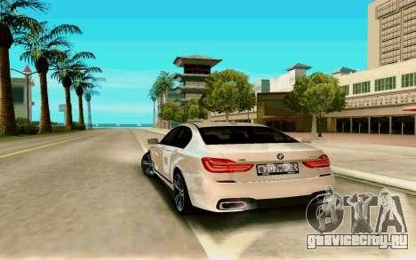 BMW 760 Li для GTA San Andreas вид сзади слева