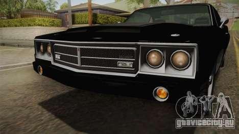 GTA 5 Declasse Sabre GT SA Style Painted Bumpers для GTA San Andreas