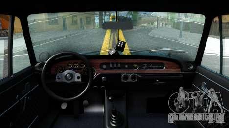 Lancia Fulvia для GTA San Andreas вид изнутри