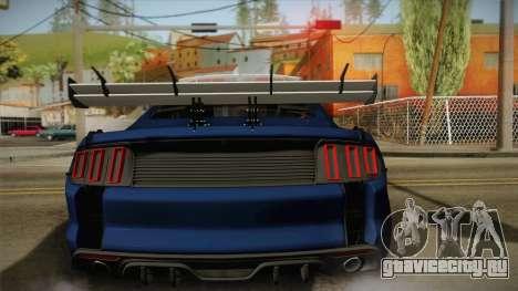 Ford Mustang GT 2015 Barricade Transformers 5 для GTA San Andreas вид изнутри