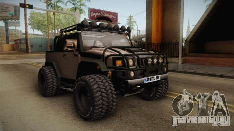 Hummer Wrangler H2 для GTA San Andreas вид справа