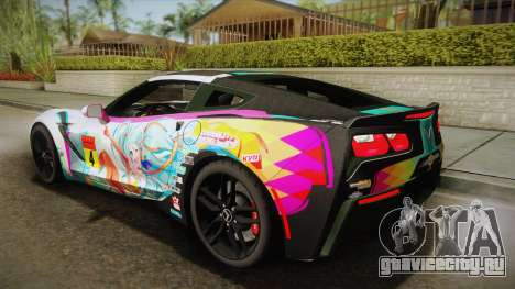 Chevrolet Corvette Z51 C7 2014 GOODSMILE Racing для GTA San Andreas вид слева