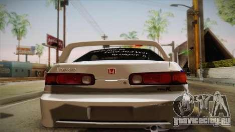 Honda Integra Tipe R Girl und Panzer Itasha для GTA San Andreas вид сзади