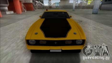 1971 Ford Mustang Mach 1 для GTA San Andreas вид справа