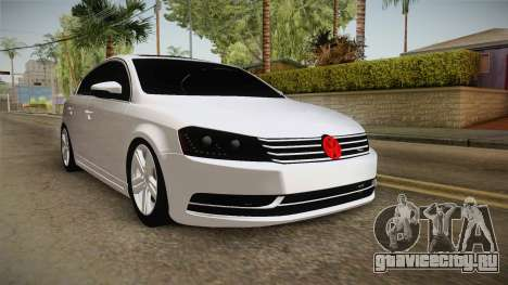 Volkswagen Passat 2011 Beta для GTA San Andreas вид справа