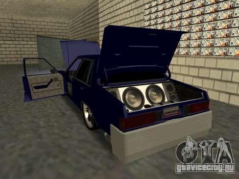 Chevrolet Malibu 1980 V3 Super Tuning Blue для GTA San Andreas вид снизу
