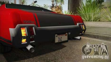 GTA 5 Declasse Sabre GT SA Style для GTA San Andreas вид сбоку