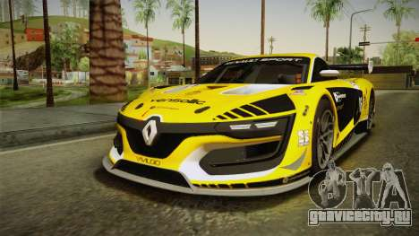 Renault Sport R.S.01 PJ1 для GTA San Andreas вид сверху
