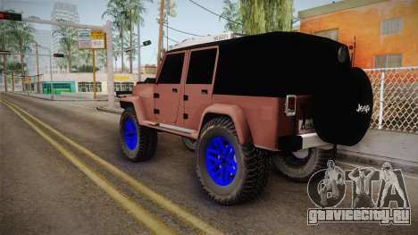Jeep Wrangler 2012 для GTA San Andreas вид слева