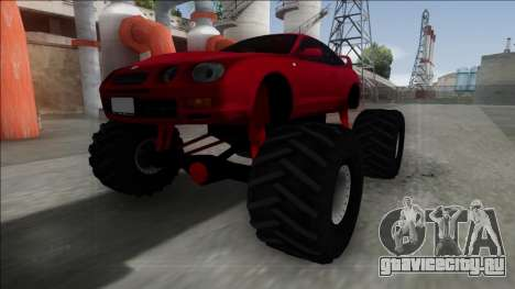 Toyota Celica GT-Four Monster Truck для GTA San Andreas вид сзади слева