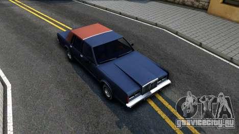 Lincoln Town Car 1981 для GTA San Andreas вид справа