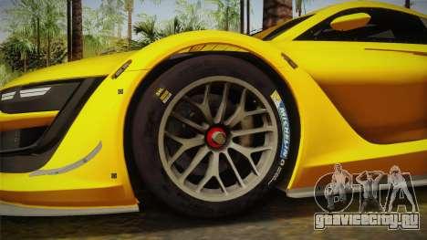 Renault Sport R.S.01 PJ1 для GTA San Andreas вид сзади