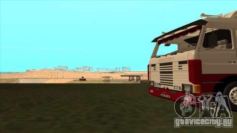 Scania 143M для GTA San Andreas вид снизу